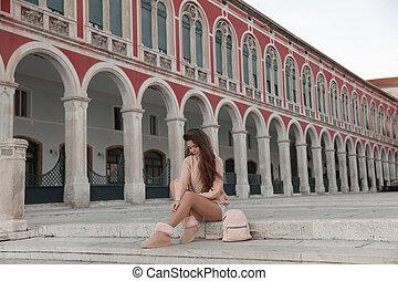 観光, 広場, ライフスタイル, 観光客, 訪問, places., 旅行, 有名, 共和国, ランドマーク, 女の子...