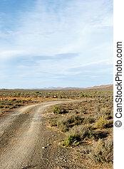 観測所, ほこりまみれである, sutherland, -, 塩, 道, 光景