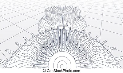 规划, 或者, 察看, 观点, cog, 技术, 轮子, 背景, 齿轮, 蓝图, 摘要