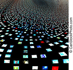 视频, 屏幕, 摘要, 建立, entireily, 在中, 我, 自己, 形象, 同时,, 人类数字, 是, 建立,...