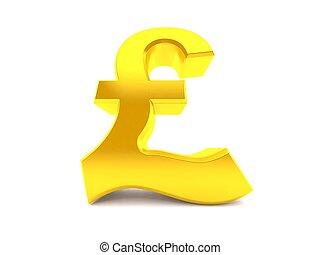 角度, ポンド, 通貨, 低い