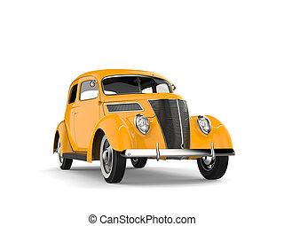 角度, 前部, 型 車, 黄色, -, 光景, 低い