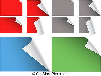 角落, 顏色, 單子用紙包, 彎曲, 彙整, 空白