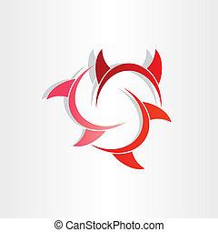 角, シンボル, 悪魔, 抽象的