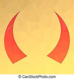 角, 赤, アイコン