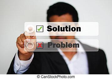 解決, に対して, 選択, 専門家, 問題, マレ