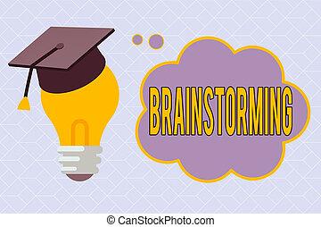 解決, 考え, 考え, ∥あるいは∥, ブランク, 3d, 印, 写真, 休む, 提示, 議論, 卒業式帽子, brainstorming., bubble., 考え, テキスト, 先導, グループ, 概念, 問題, 電球, 雲