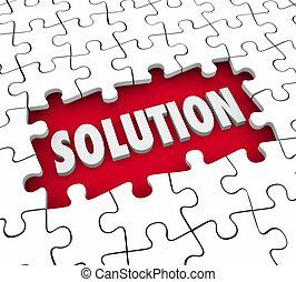 解決, 難題 片斷, 精整, 工作, 解決, 挑戰