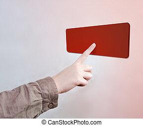 触れられた, 赤いボタン
