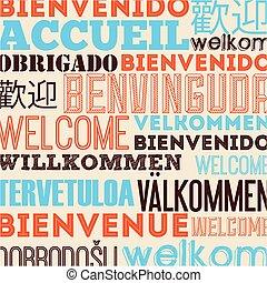 言語, デザイン, ポスター