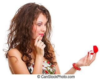 訂婚戒指, 婦女, 禮物, 藏品
