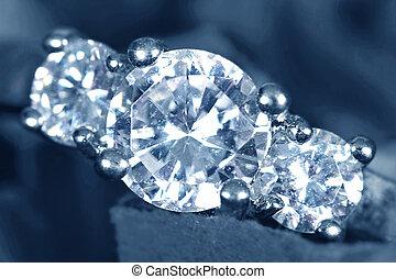 訂婚戒指, 帶, 人物面部影像逼真