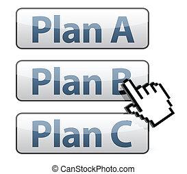 計画, イラスト, カーソル, 選択