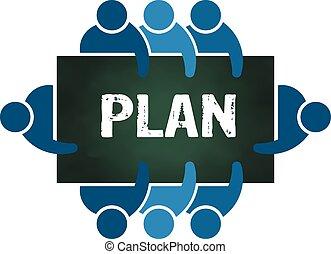 計画, グループ, 人々