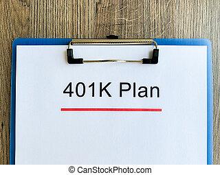 計画, テーブル。, 木, 401k, ペーパー