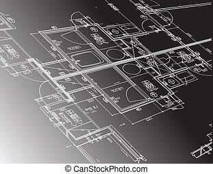 計画, デザイン, ガイド, イラスト, 建築
