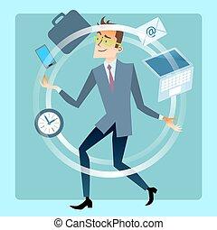 計画, ビジネスマン, 仕事, 曲芸師, 時間