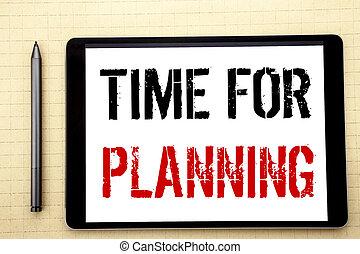 計画, ビジネス, スペース, 執筆, マーカー, 光景, オフィス, コンピュータ, 提示, 書かれた, 時間, タブレット, スクリーン, 鉛筆, テキスト, プロジェクト, 背景, 手書き, planning., 組織しなさい, 概念, 白