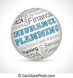 計画, 保険, 球, keywords, 主題