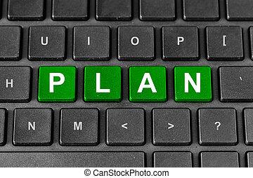 計画, 単語, ビジネス, キーボード