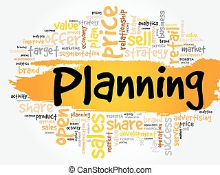計画, 単語, 雲