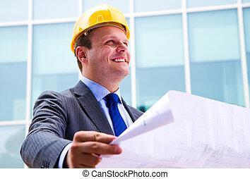 計画, 建築家, 現代, デザイン, 見る