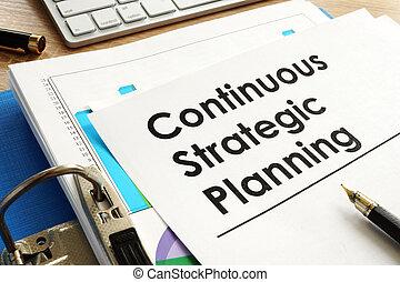 計画, 絶え間がない, テーブル。, オフィス, 戦略上である