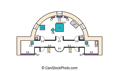 計画, design., 建設, 中世, 建築である, altar., 修道院, 教会, 正統