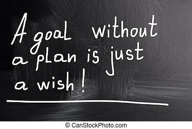 計画, wish!, ゴール, ただ, なしで
