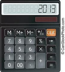計算器, 矢量, 插圖