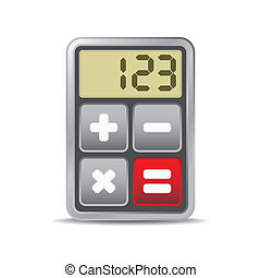 計算器,  -, 被隔离, 插圖, 應用, 圖象