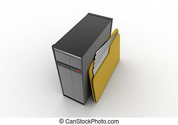 計算机服務器, 由于, 文件夾