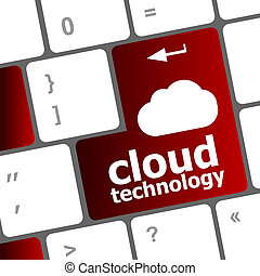 計算机鍵盤, 為, 雲, 技術