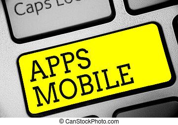 計算, 写真, 黄色の符号, 持たれた, コンピュータキーボード, 作成しなさい, apps, intention, プログラム, テキスト, 概念, 操業, 提示, 手, 電話, 設計された, キー, 装置, mobile., 反射, document.