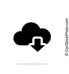 計算, 単純である, バックグラウンド。, ダウンロード, 白い雲, アイコン