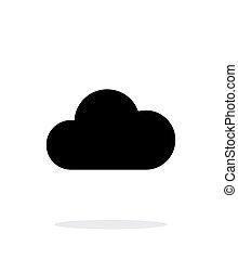 計算, 単純である, バックグラウンド。, 白い雲, アイコン