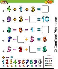 計算, 数学, 教育, 子供たちがゲームをする