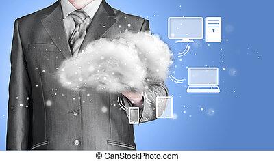 計算, 概念, 技術, 雲, 結合性