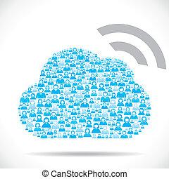 計算, 雲, 無線