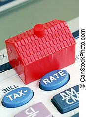 計算, the, 抵押, 比率, 以及, 稅, 在, 房地產