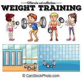 訓練, ジム, 重量