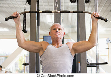 訓練, ジム, 重量, 人