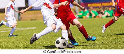 訓練, フットボール, トーナメント, children., サッカーマッチ
