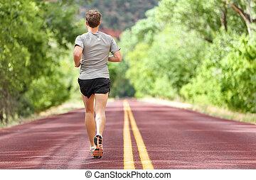 訓練, ランナー, 動くこと, フィットネス, マレ, 道