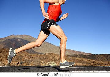 訓練, ランナー, -, 動くこと, 屋外で, マレ, 人