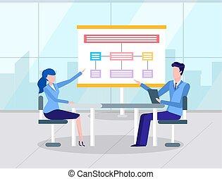 訓練, 人, ビジネス, ∥あるいは∥, 女, セミナー, 案