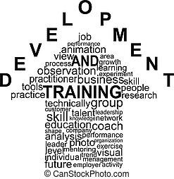 訓練, 以及, 發展