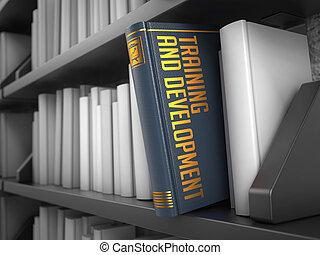 訓練, 以及, 發展, -, 標題, ......的, book., 教育, concept.