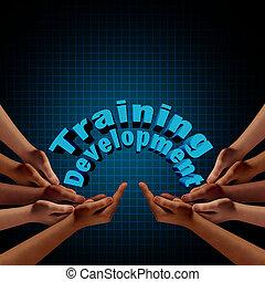 訓練, 以及, 發展, 組
