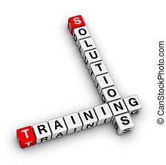 訓練, 以及, 解決